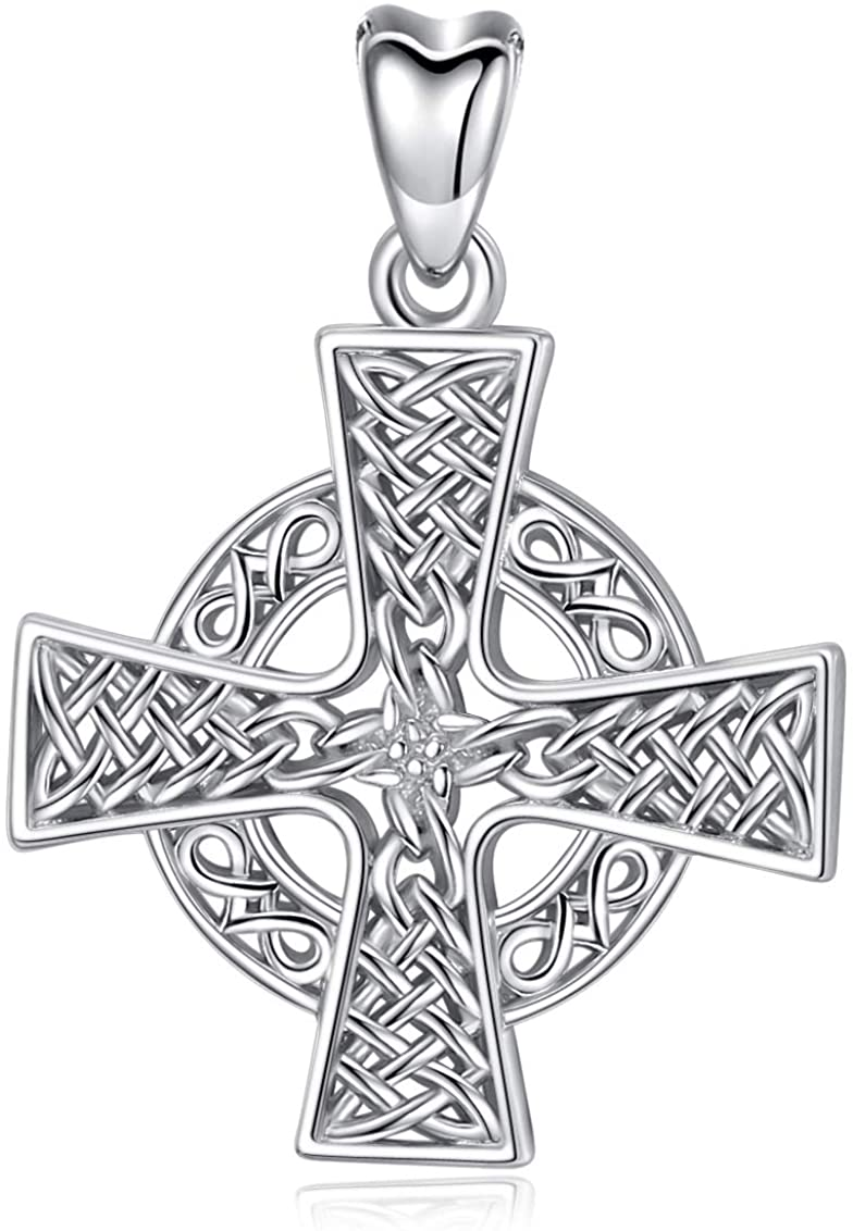 Jewelry Trends Celtic Knot Templar Cross Sterling Silver Pendant