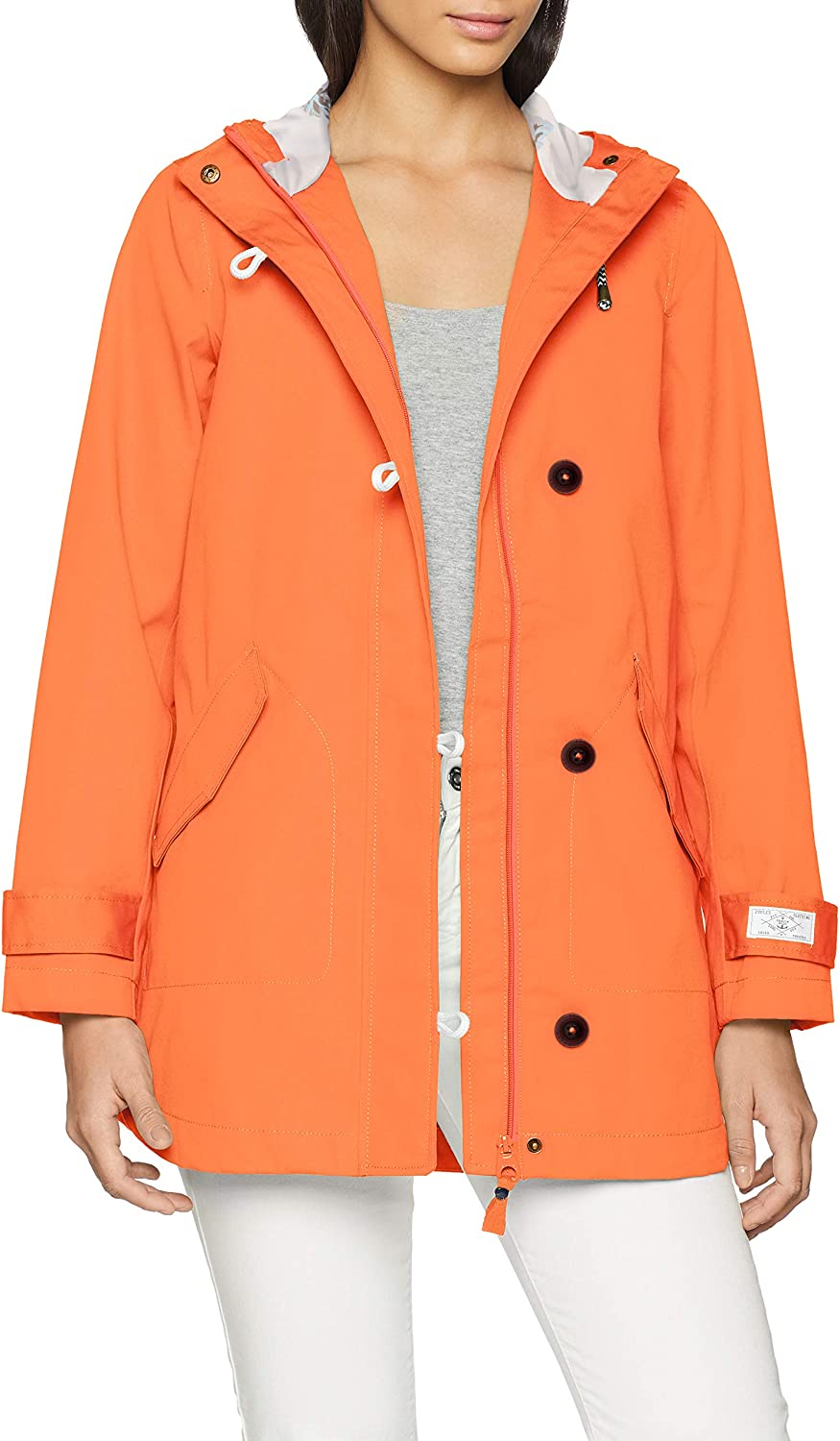 Joules, Coasted Hooded Jacket, Burnt Coral,