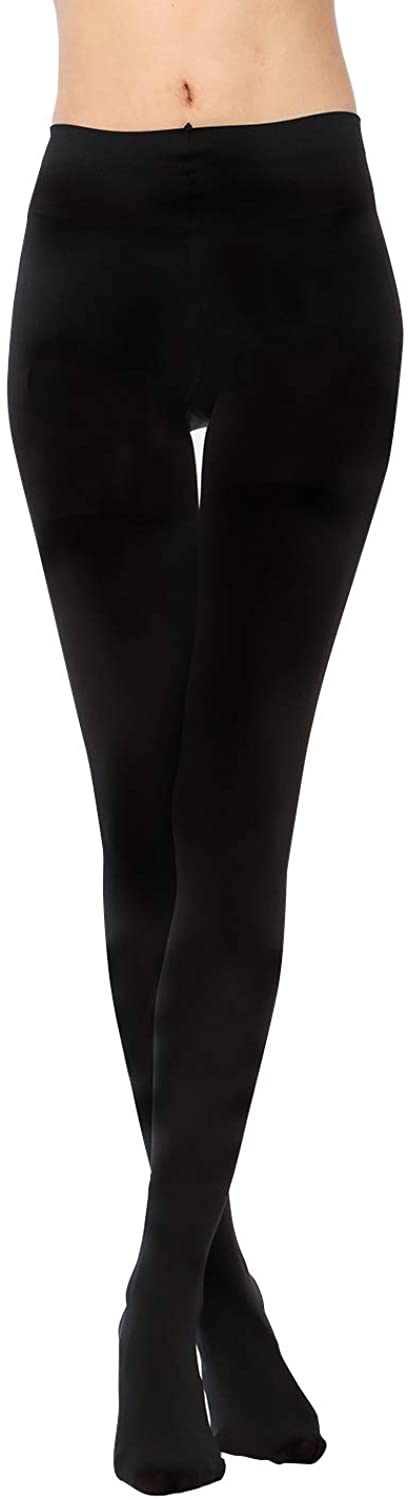 LASETA Women's 2 Pairs Super Opaque Warm Pantyhose Control Top Thermo Warm Tights