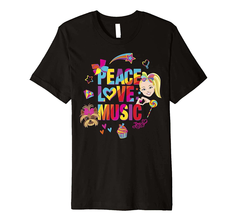 JoJo Siwa Peace Love Music Rainbow Sticker Premium T-Shirt