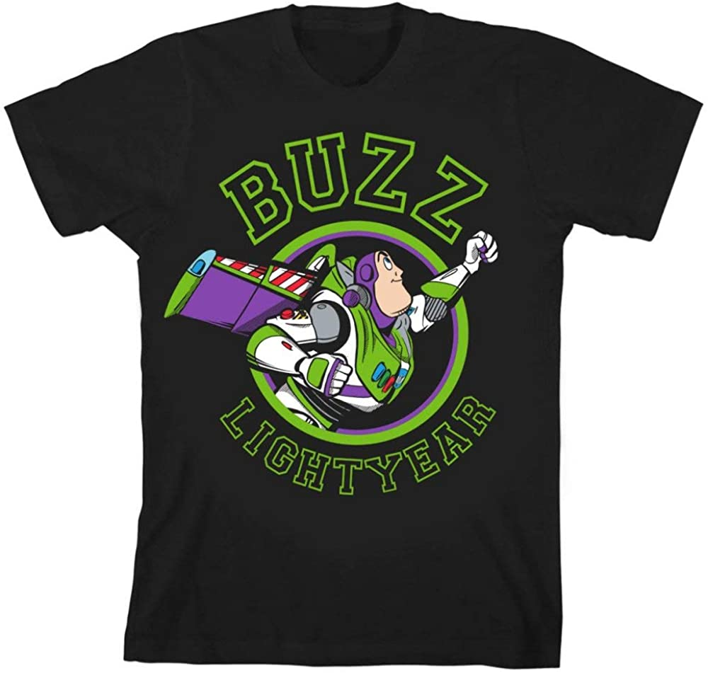 Disney Toy Story Buzz Lightyear Youth Boys Black Graphic Tee