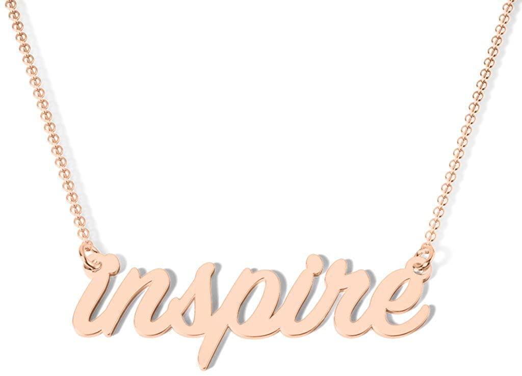 10K Gold Always Inspire Necklace by JEWLR