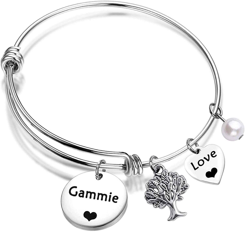 ENSIANTH Gammie Bracelet Best Gammie Ever Gift Grandma Jewelry Adjustable Bracelet