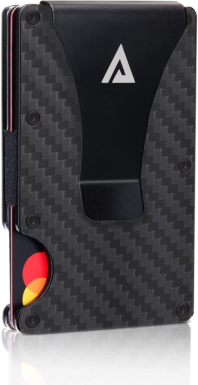 Rfid Wallets for Men Money Clip Carbon Fiber Wallet Card Holder Slim Men Wallet