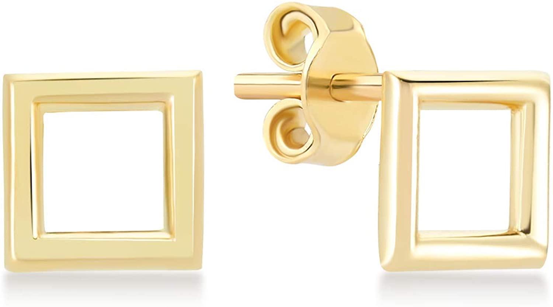 GELIN Minimal Stud Earrings in 14k Solid Gold- Stud Earrings for Women