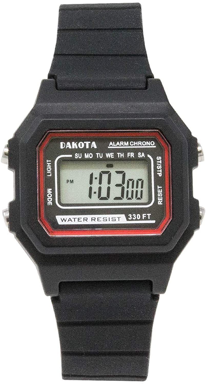 Dakota Small Retro Digital Water Resistant Easy to Clean Watch - Ladies, Kids, Sport Watch (33 mm Case Diameter)
