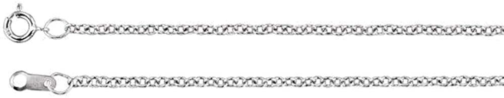 Bonyak Jewelry Platinum 1.5mm Solid Cable 20