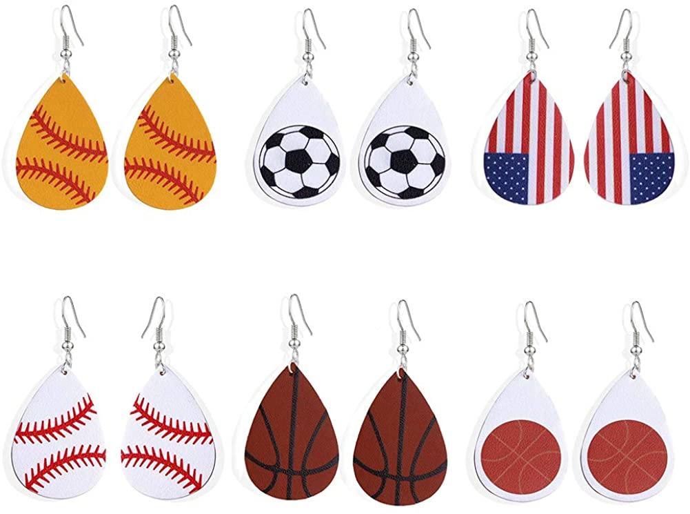 lureme Faux Leather Earrings Set for Women Lightweight Teardrop Handmade Leaf Earrings (er006191)