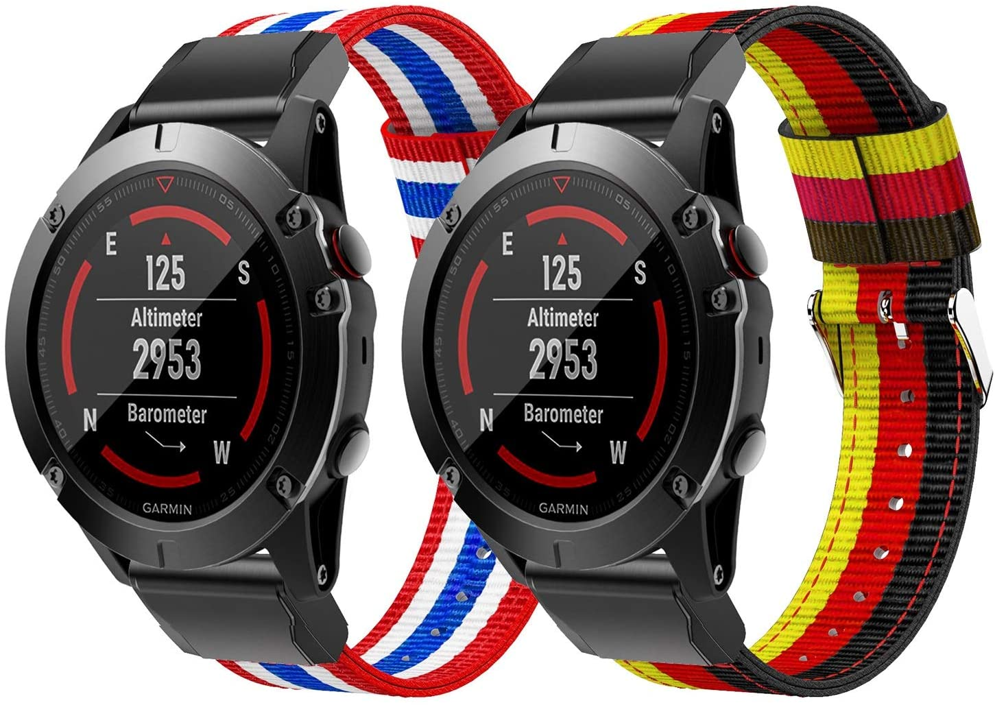 Junboer Compatible with Fenix 5X Watch Band, 26mm Premium Nylon Replacement Strap Wristband for Fenix 5X Plus/Fenix 6X/Fenix 6X Pro/Fenix 3/Fenix 3 HR/Descent MK1/D2 Delta PX/D2 Charlie Smartwatches