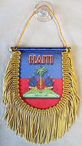 Haiti - Window Hanging Flag (Shield)