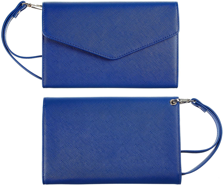 Casmonal Multi-purpose Travel Wallet Passport Holder Cover Case Wallet Wristlet Document Organizer (CH Deep Blue)