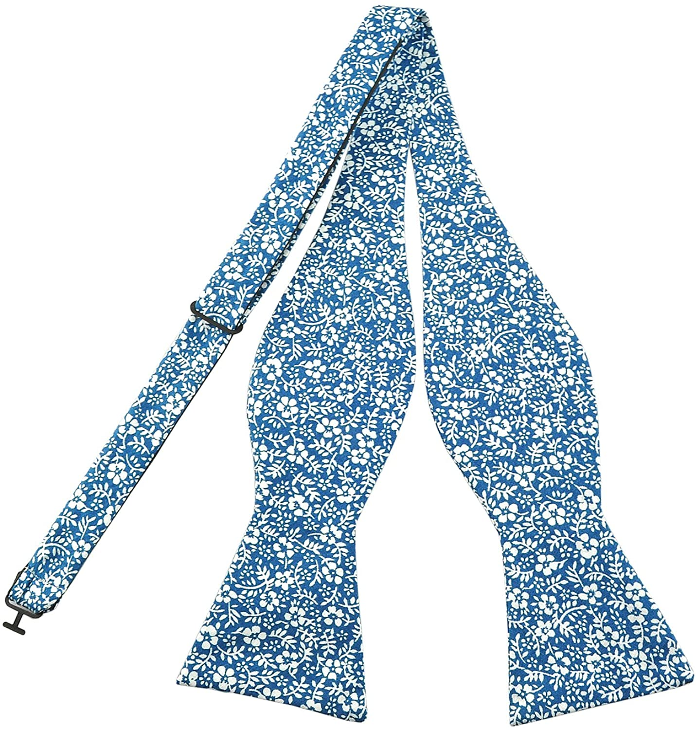 PenSee Mens Self Bow Ties Floral Pattern Printed Cotton Bowtie