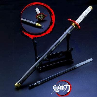 Game Collection Demon Slayer: Kimetsu no Yaiba Katana Signature Pen Rengoku Kyoujurou Knife Sword Weapon Metal Model Action Figure Arts Toys Party Supplies Gift (Rengoku Kyoujurou)