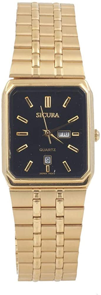 Sicura Watch SJH 3392 Quartz Stainless Steel Gold Tone
