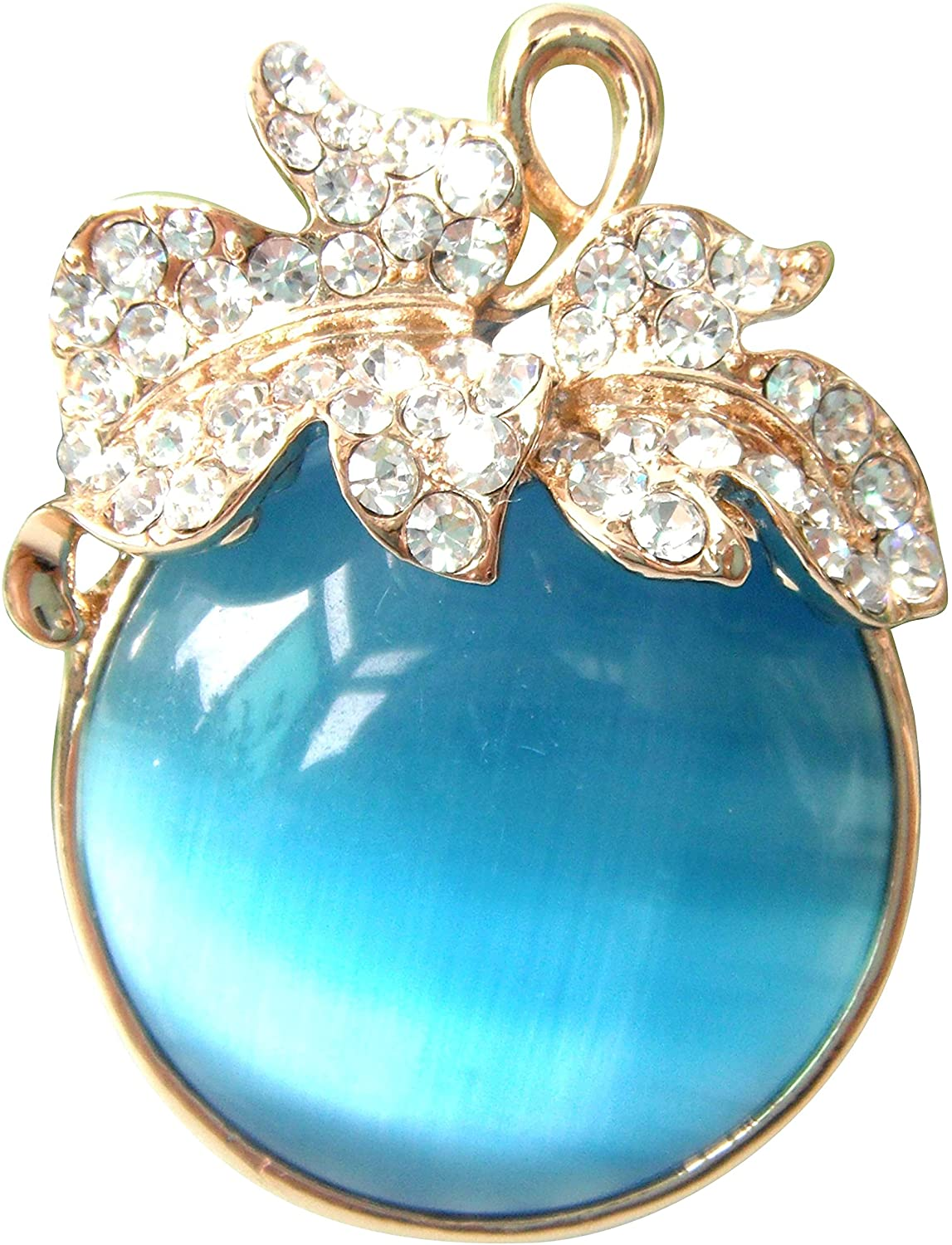 Navachi 18k Gold Plated Multi-Color Created-Opal Crystal Fruit Tomatoes Brooch Pin