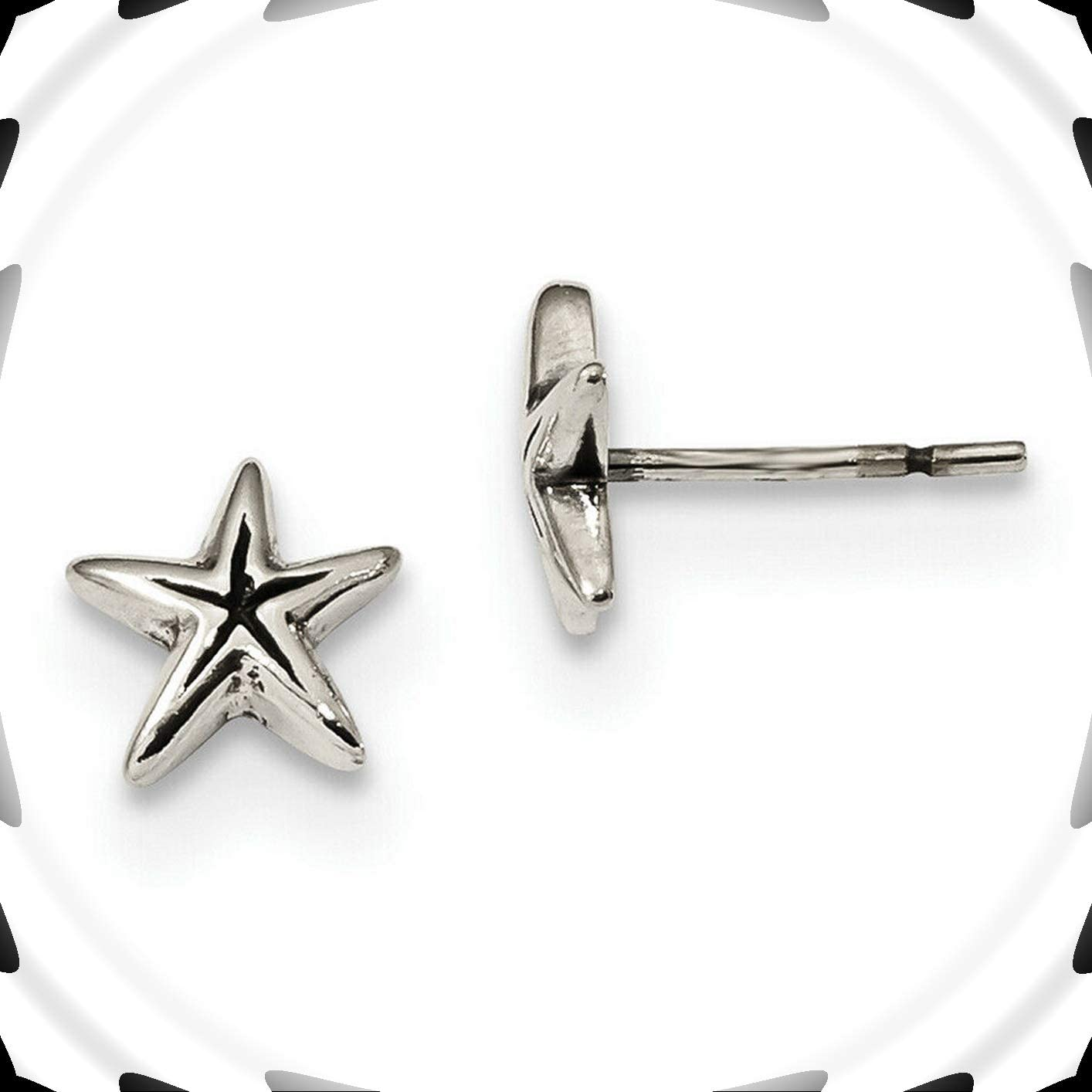 Sterling Silver Antiqued Starfish Post Earrings Amazing Accessories for Your Perfect and Fashion Look by CharmingSS
