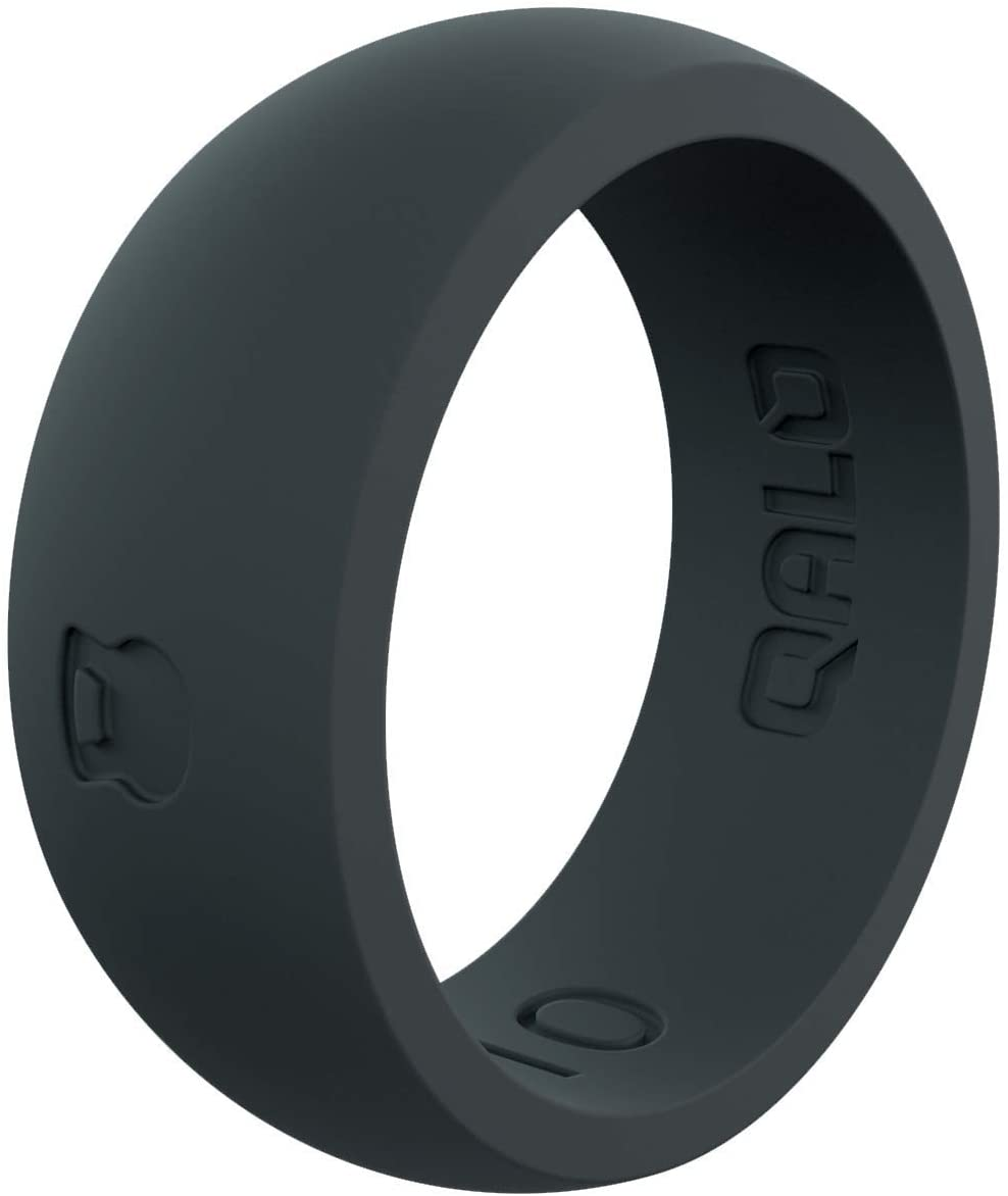 QALO Men's Slate Grey Classic Athletics Silicone Ring Size 14