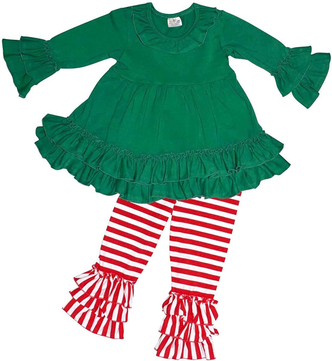 Unique Baby Girls Christmas Elf 2 Piece Winter Outfit