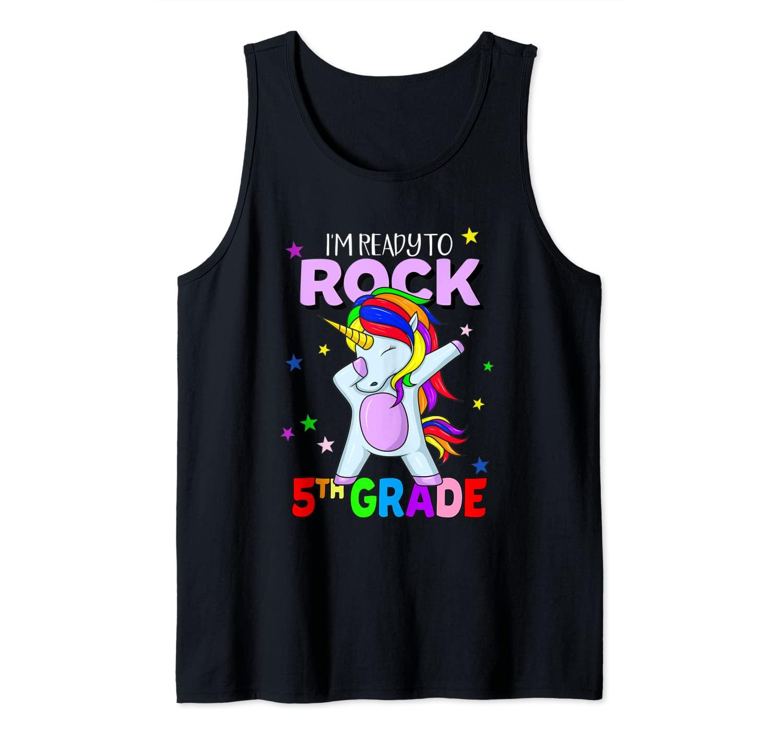 Rock 5th Grade Dabbing Unicorn Girls Back To School Tank Top