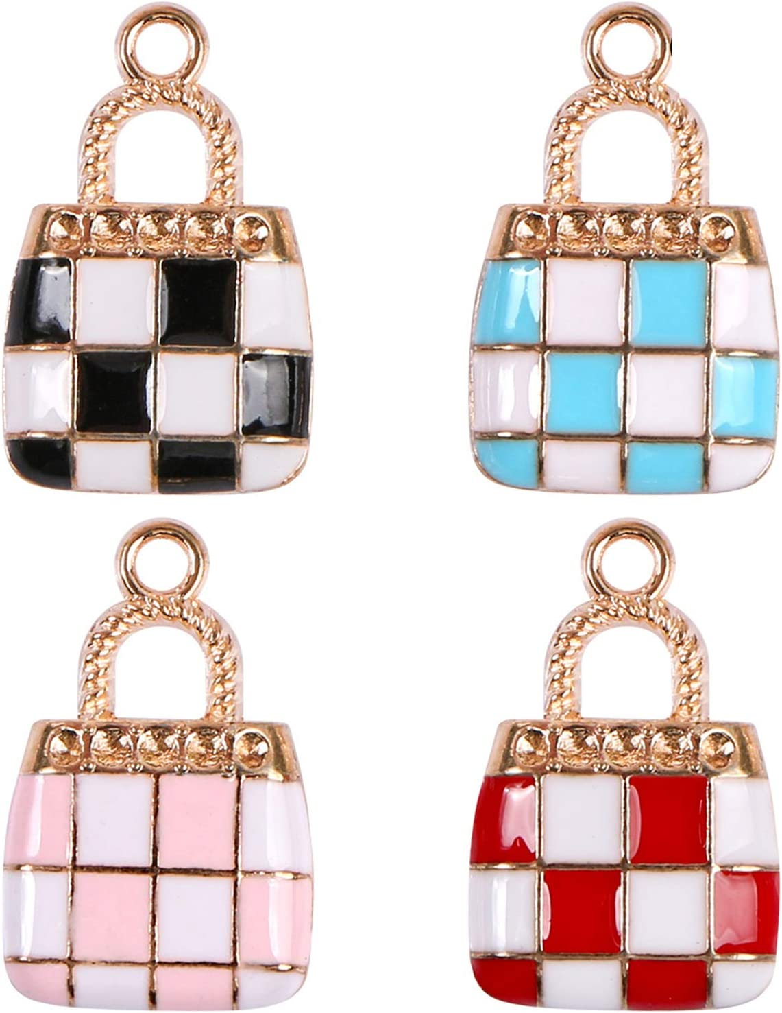 Purse Charms Pendants, BENBO 40Pcs Fashion Gold Plated Enamel Women Makeup Purse Charms Pendant Jewelry Findings for DIY Necklace Bracelet Earring Jewelry Making