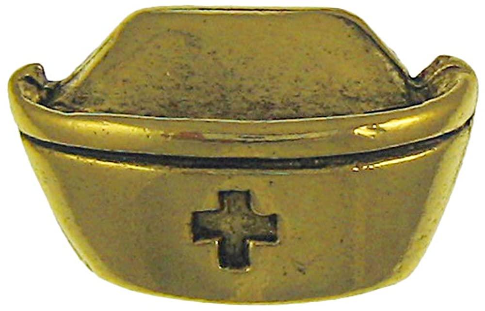 Jim Clift Design Vintage Nurse Hat Gold Lapel Pin