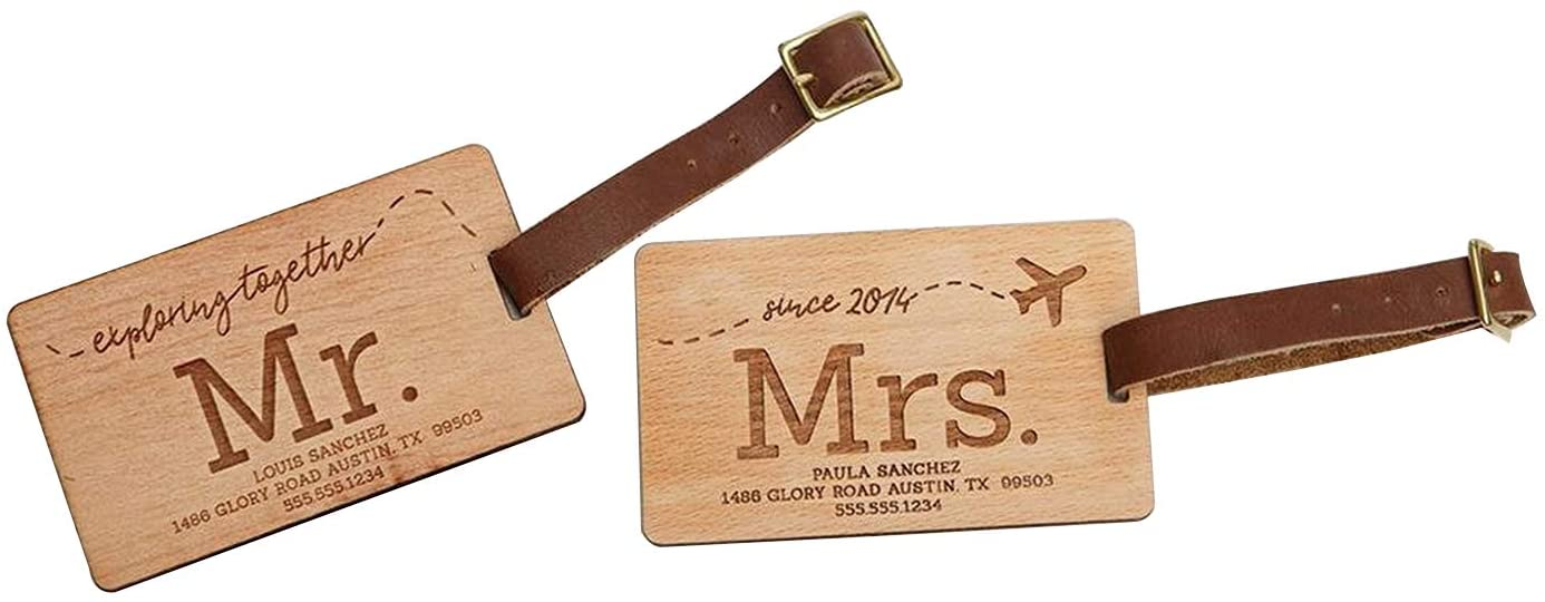 Personalized Mr and Mrs Luggage Tags 2.5