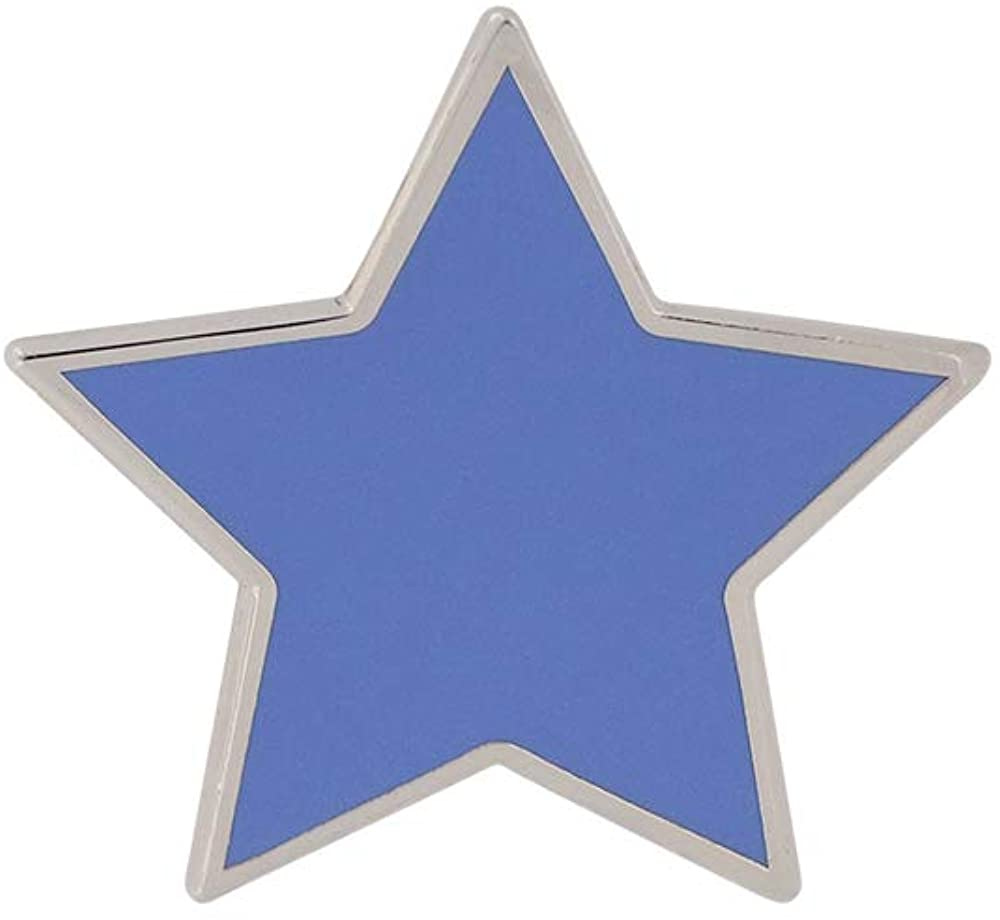 WIZARDPINS Blue Simple Colored Star Pin