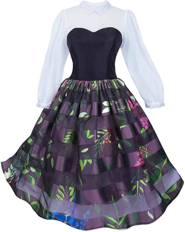 Disney Briar Rose Costume Dress for Women Purple