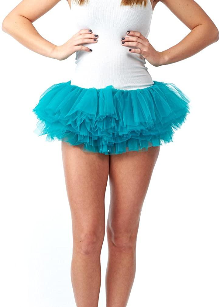 My Lello Women's Teen Adult 10 Layered Fluffy Ballet Tulle Tutu Skirt