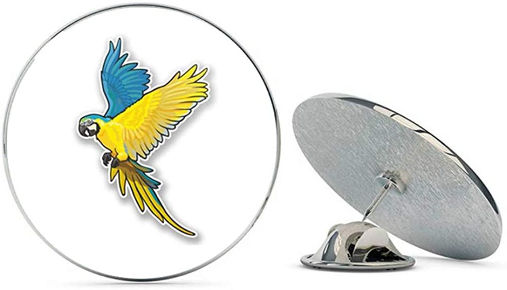 Exotic Bird Round Metal 0.75