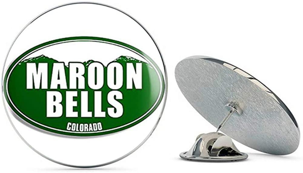 NYC Jewelers Green Mountain Oval Maroon Belles Colorado (co rv Logo) Metal 0.75