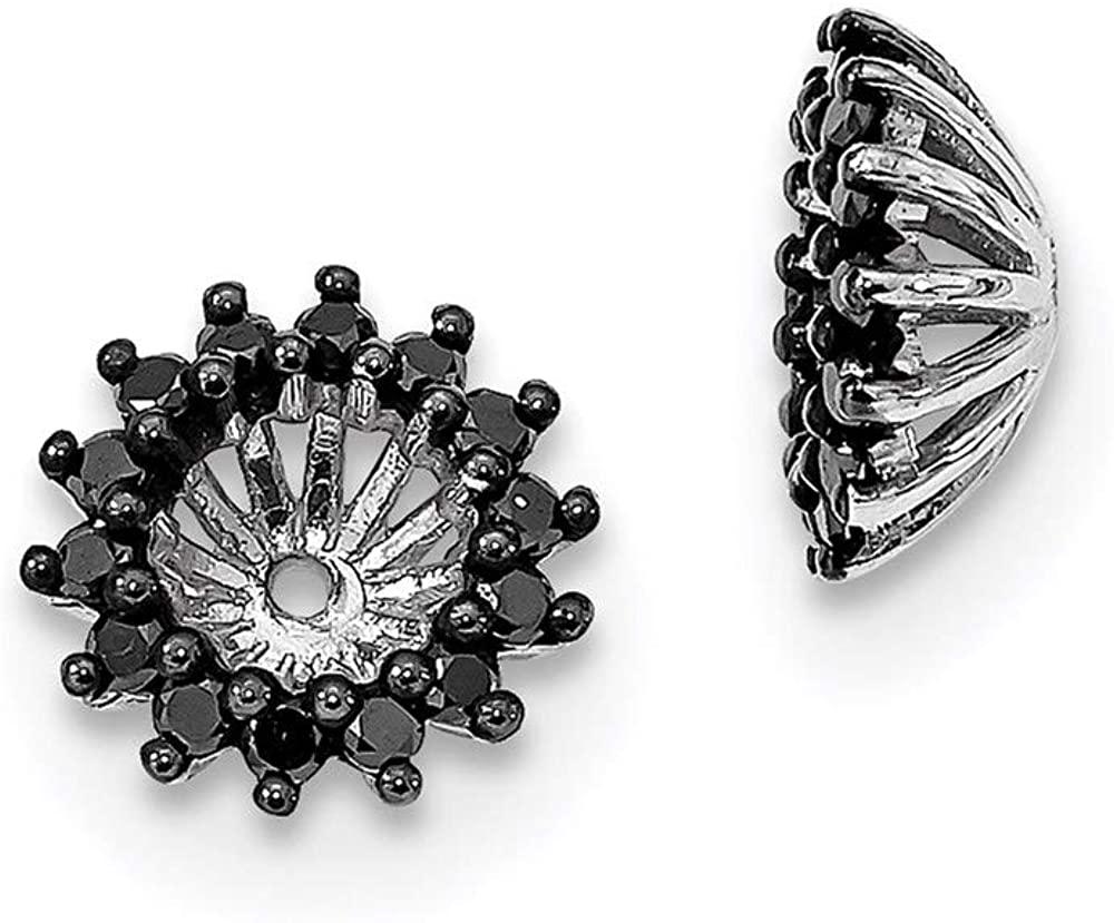 925 Sterling Silver Black Diamond Earrings Jacket Fine Jewelry For Women Gifts For Her