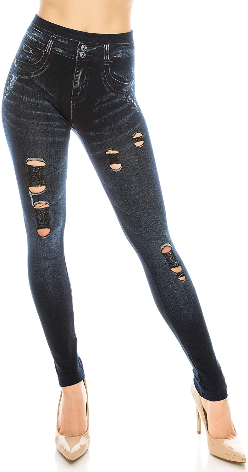 Trendy Apparel Shop Distressed Ripped Stretchy Comfortable One Size Lady Girl's Ankle 9
