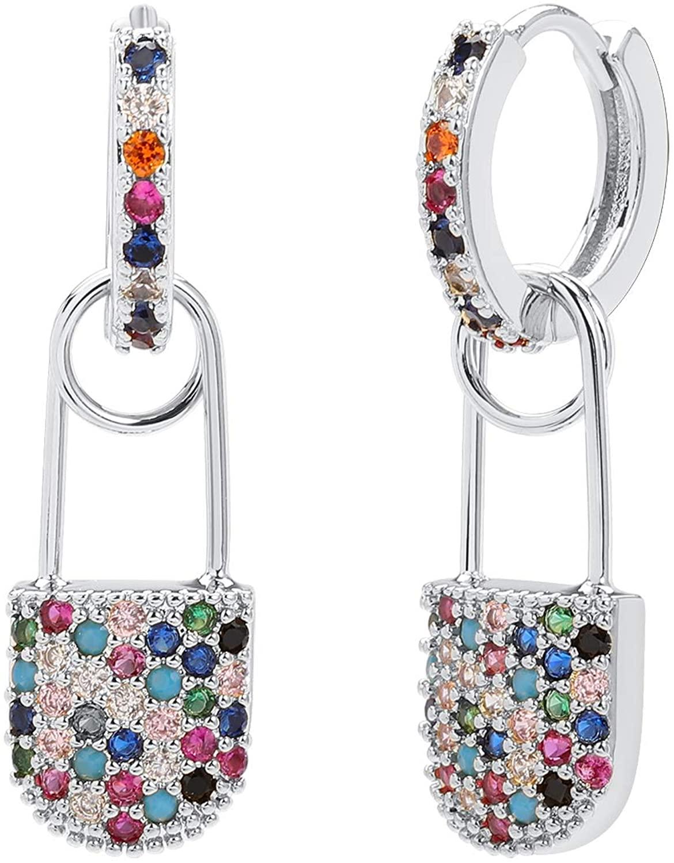 Safety Pin Hoop Earrings Minimalist Cartilage Earrings Personalized Jewelry Gift for Women