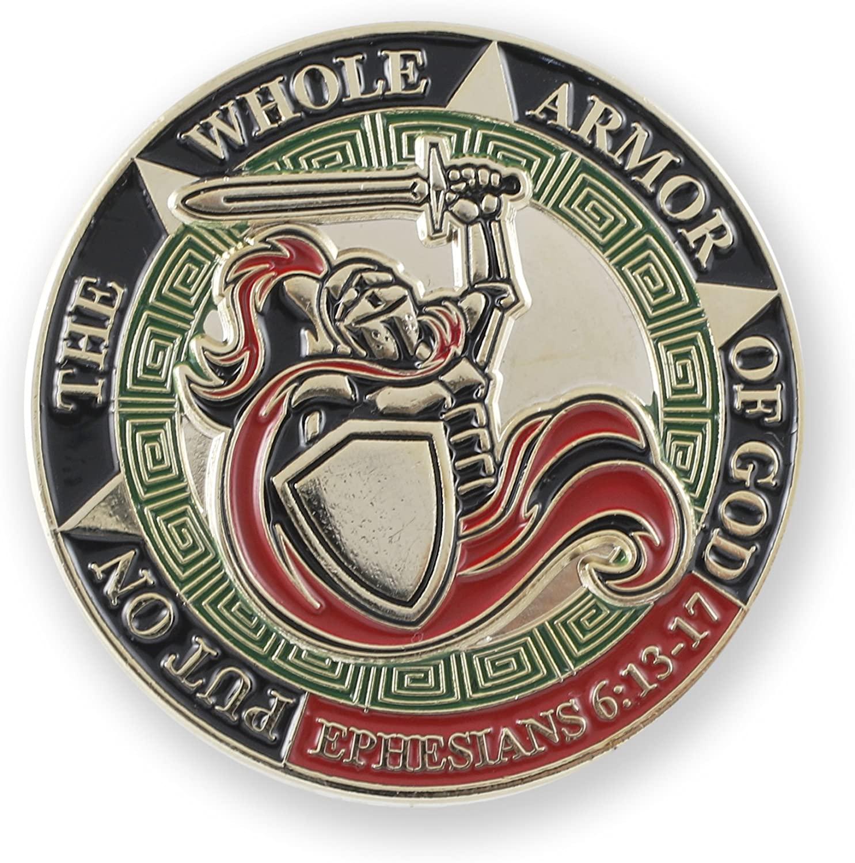 WIZARDPINS Put On The Whole Armor of God Ephesians 6:13-17 Enamel Large Lapel Pin (1 Pin)