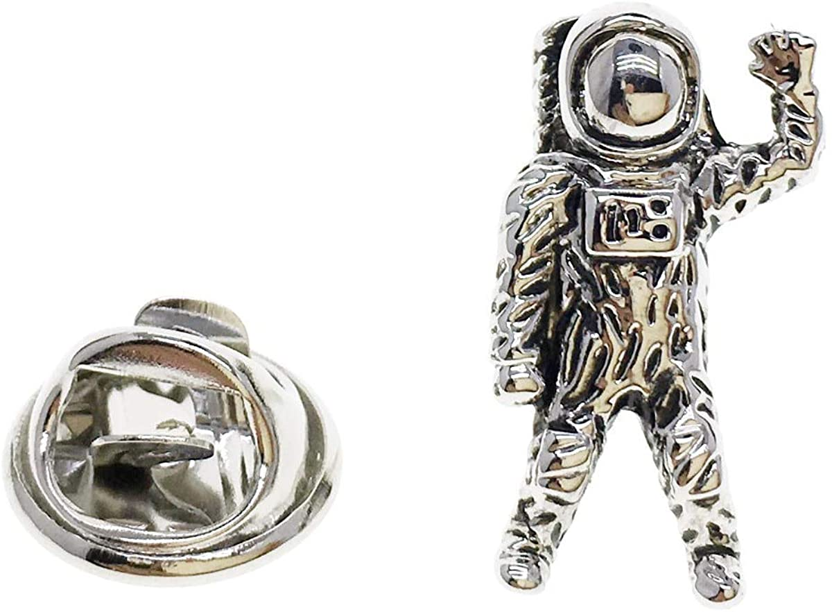 CASCUFF Lapel Pin Badges Astronaut Spaceman Space Alien UFO Pin Brooch Buttons Pins with a Gift Box