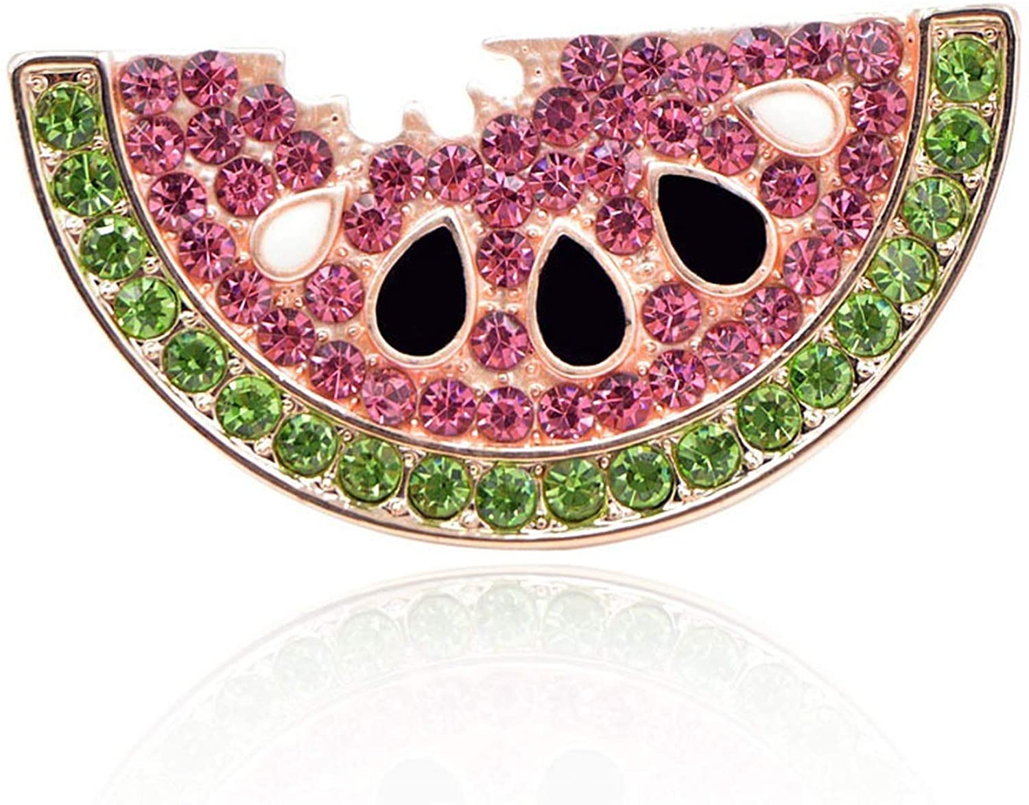 Summer Style Rhinestone Watermelon Brooches for Women Cute Fruit Brooch Pin Kids Backpack Badges Jewelry