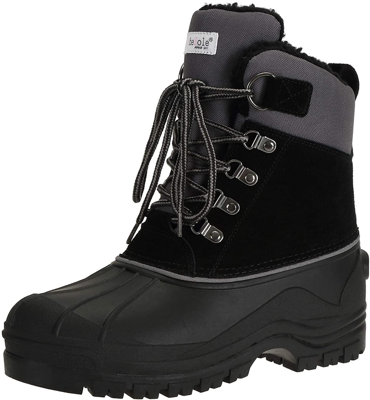 SheSole Women's Waterproof Mid Calf Winter Snow Boots