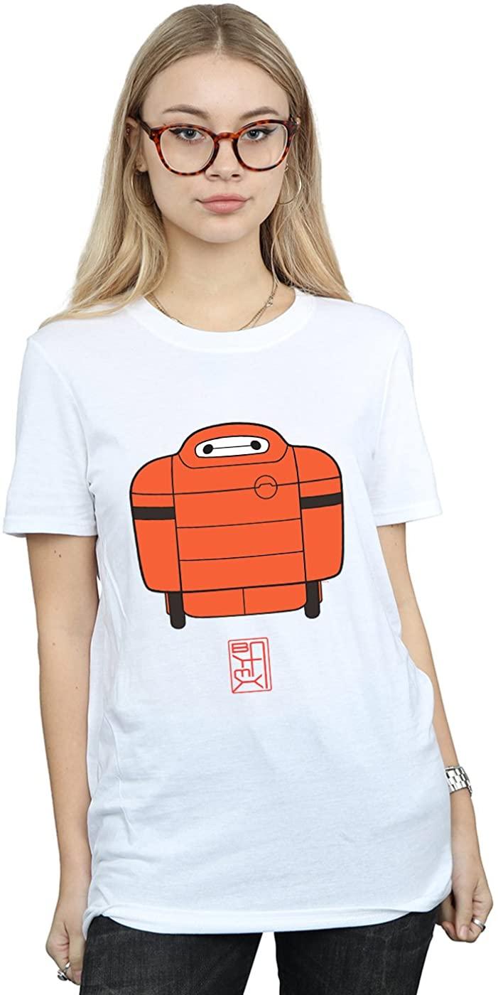 Disney Womens Big Hero 6 Baymax Suit Boyfriend Fit T-Shirt White Large