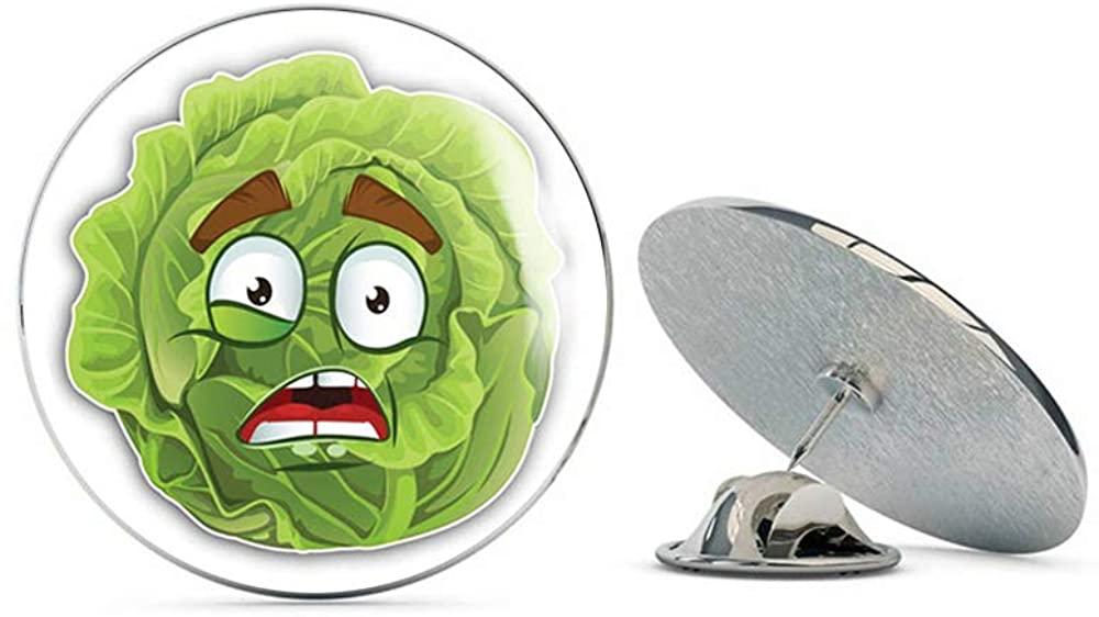 Leyland Designs Cabbage Shocked Smile Funny Cute Cartoon Metal 0.75