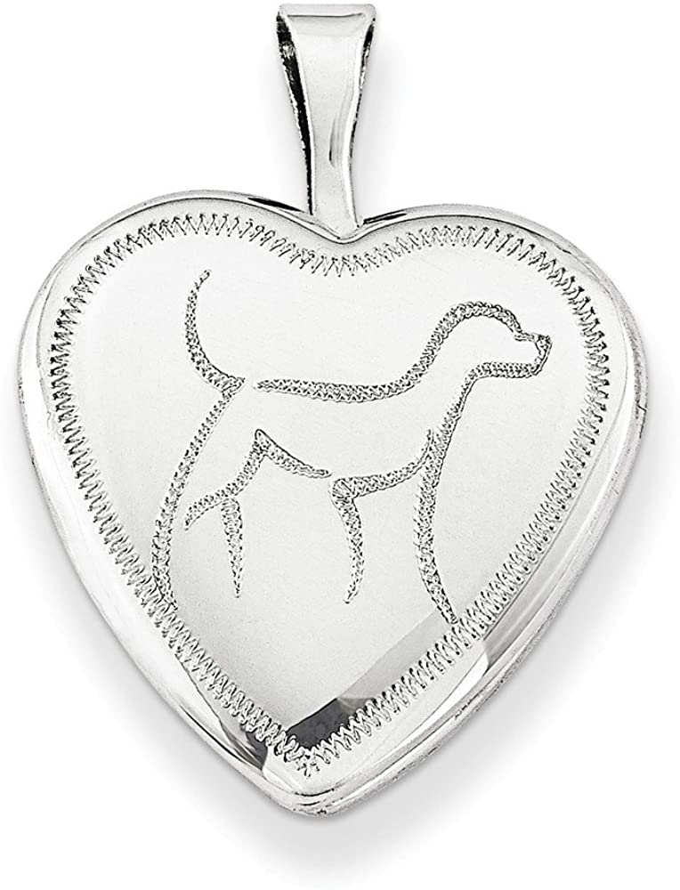 925 Sterling Silver 16mm Dog Heart Photo Pendant Charm Locket Chain Necklace That Holds Pictures Fine Jewelry For Women Gifts For Her