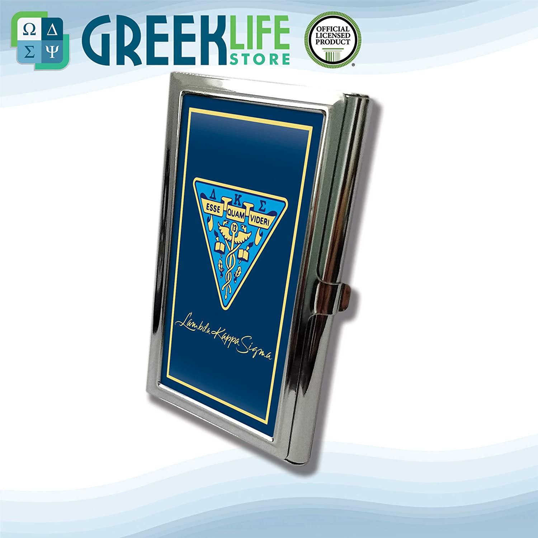 Lambda Kappa Sigma Business Card Holder Stainless Steel