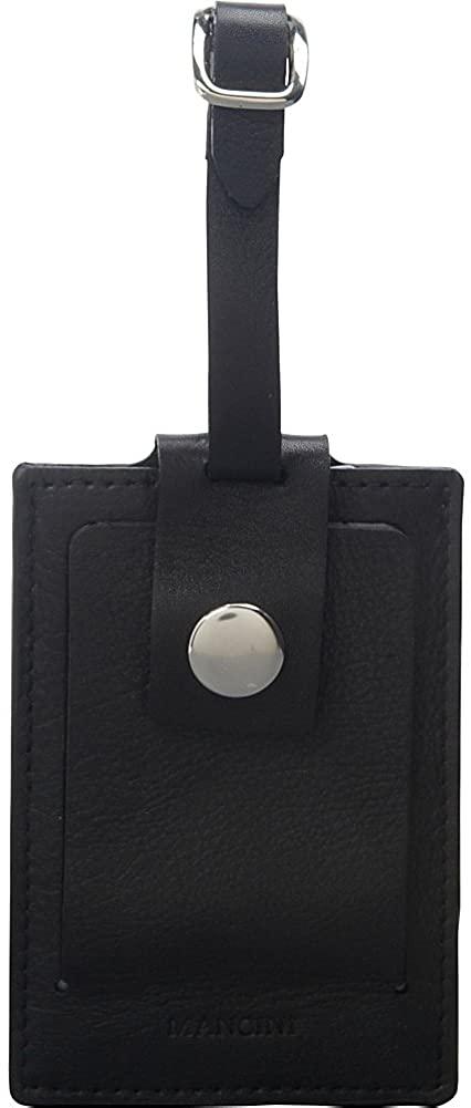 Mancini Leather Luggage Tag