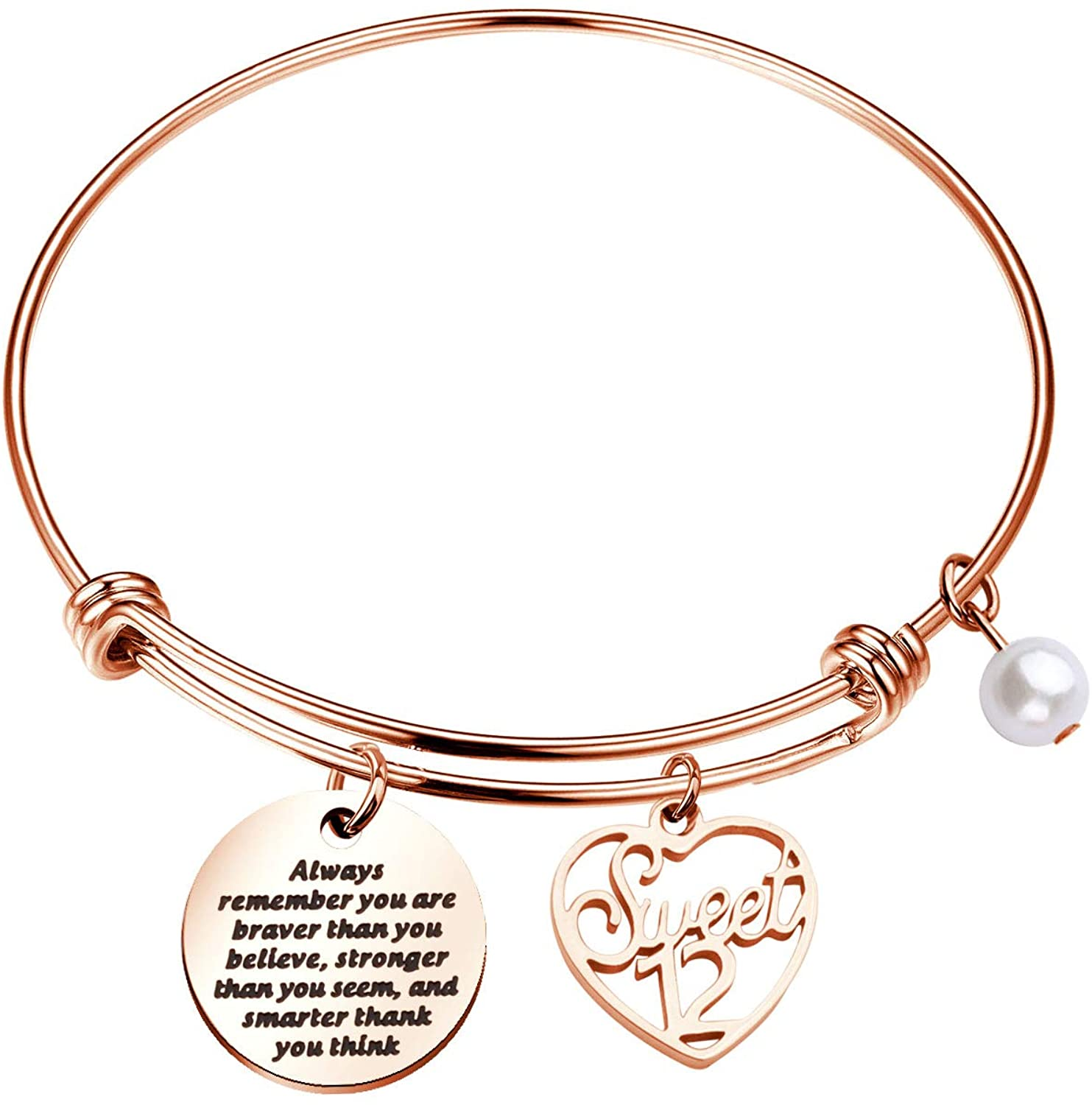 Girls Inspirational Jewelry For Girls 12th 13th 15th 16th Birthday Bracelet for Teenager Girls