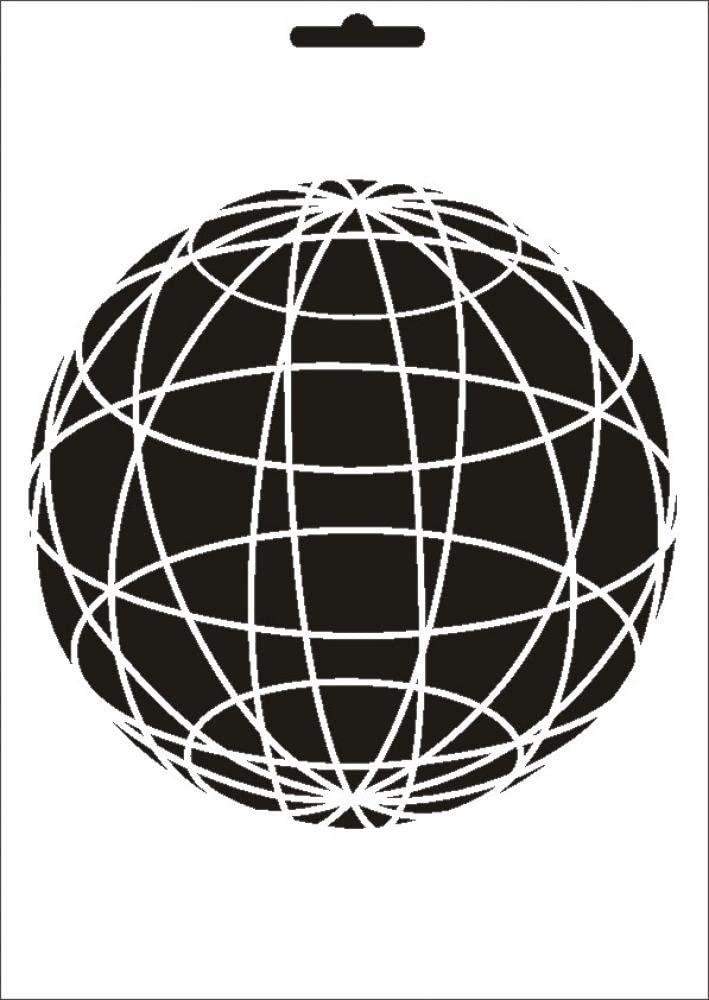 UMR-Design W-491 Ball Textil- / wallstencil Size A5