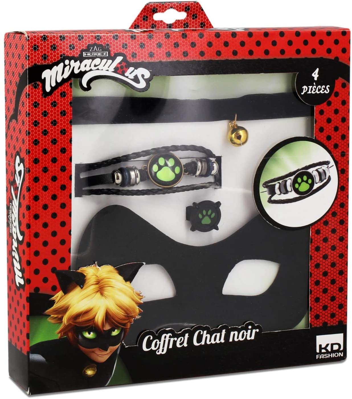 Miraculous T20801 Black Cat Mask and Jewellery Set