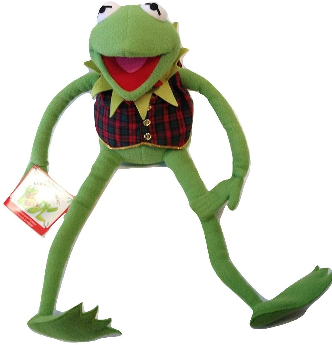 Kermit the Frog Plush Eden Edition for Macy's Plaid Vest