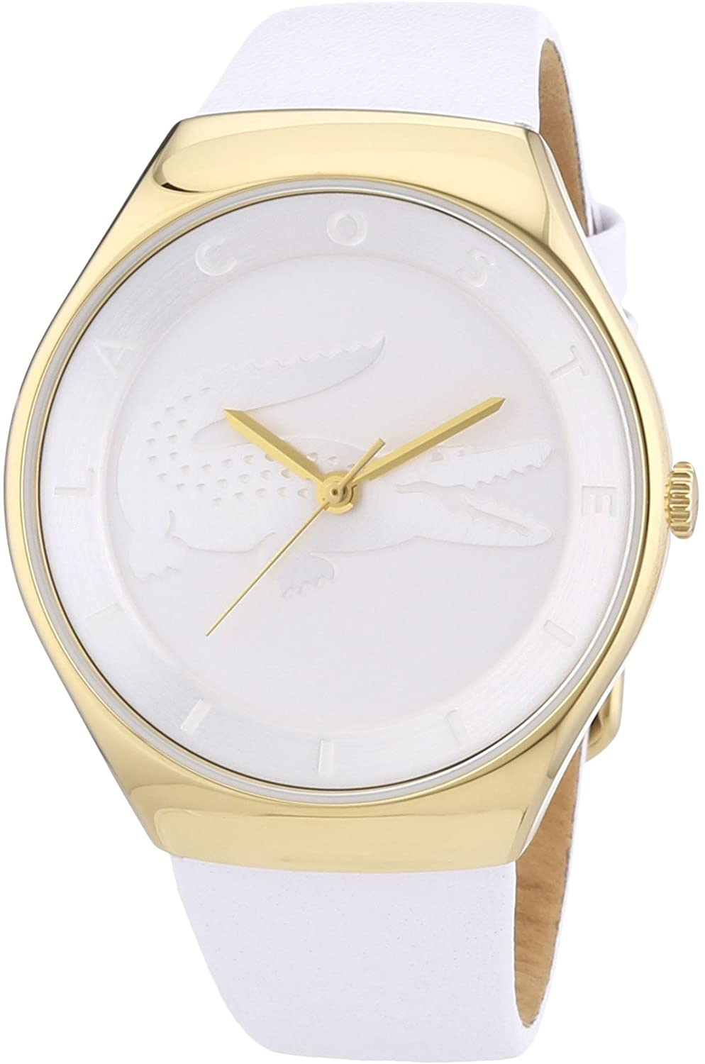 Lacoste 2000763–Watch for Women, White Leather Strap
