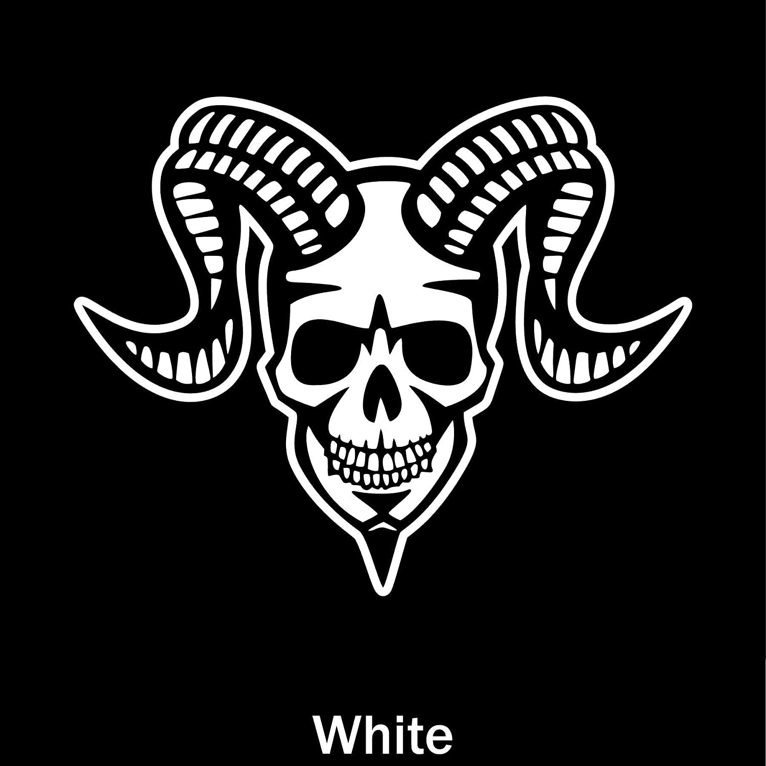 Devil Skull,Vinyl Window Decals for Bottle Laptop Cars Wall Art Quote Funny Stickers