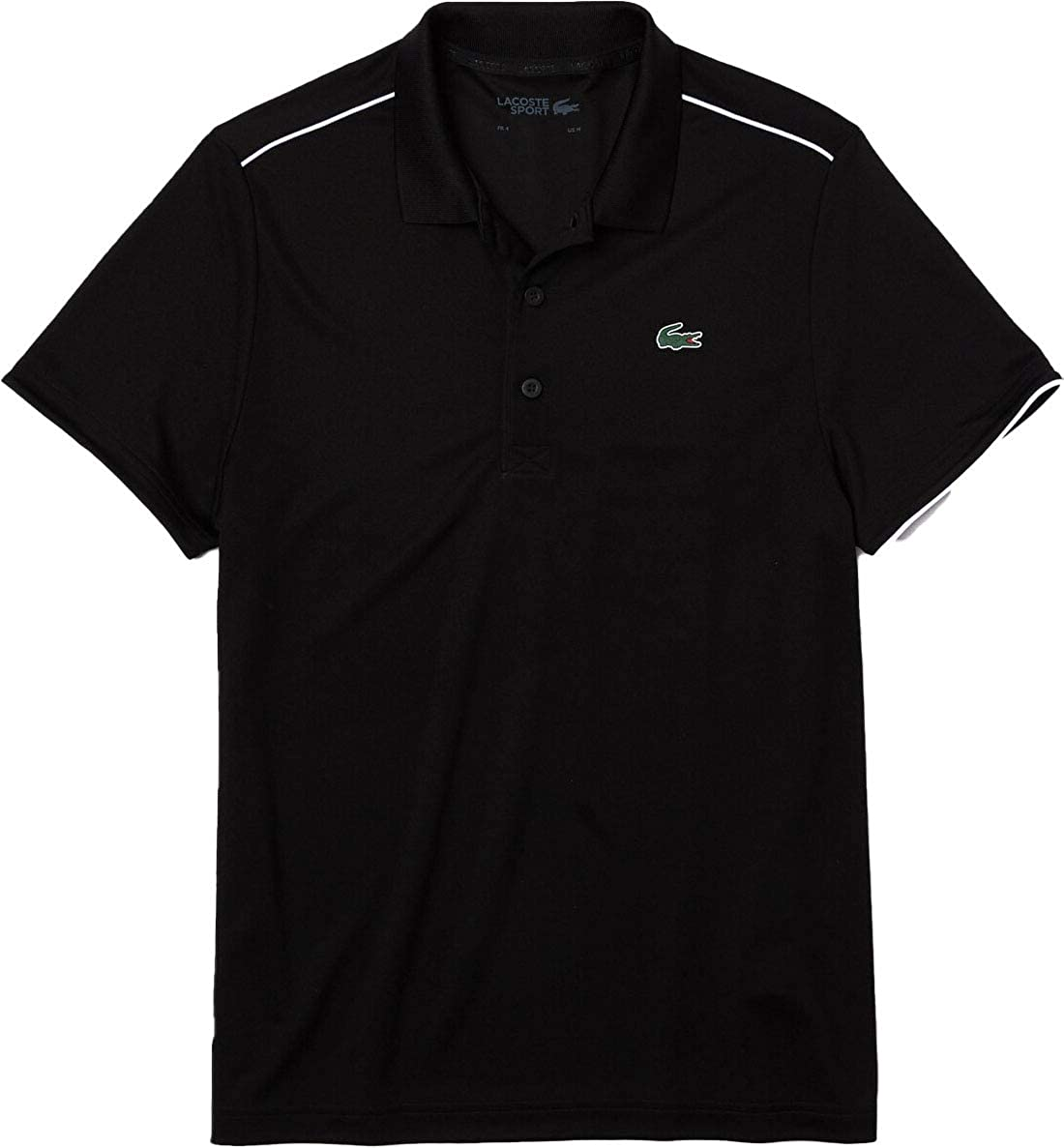 Lacoste Men's Sport Short Sleeve Ultra Dry Polo Shirt with Shoulder Tipping